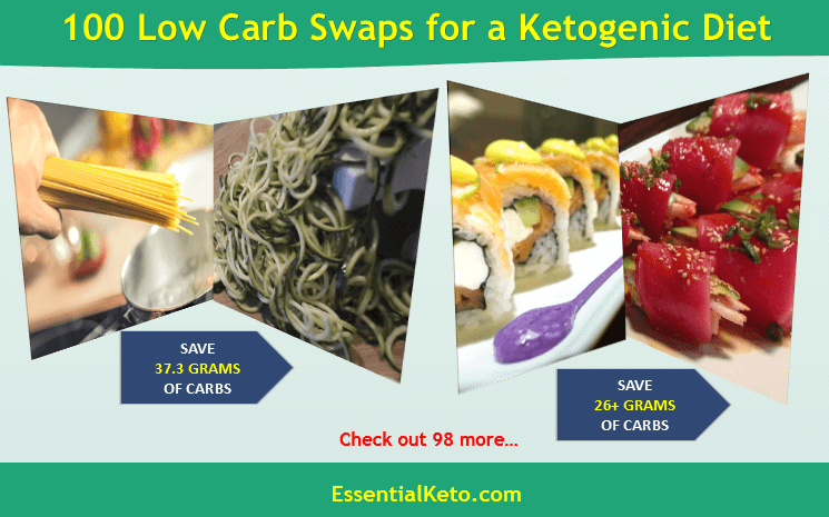100 Low Carb Swaps for a Ketogenic Diet