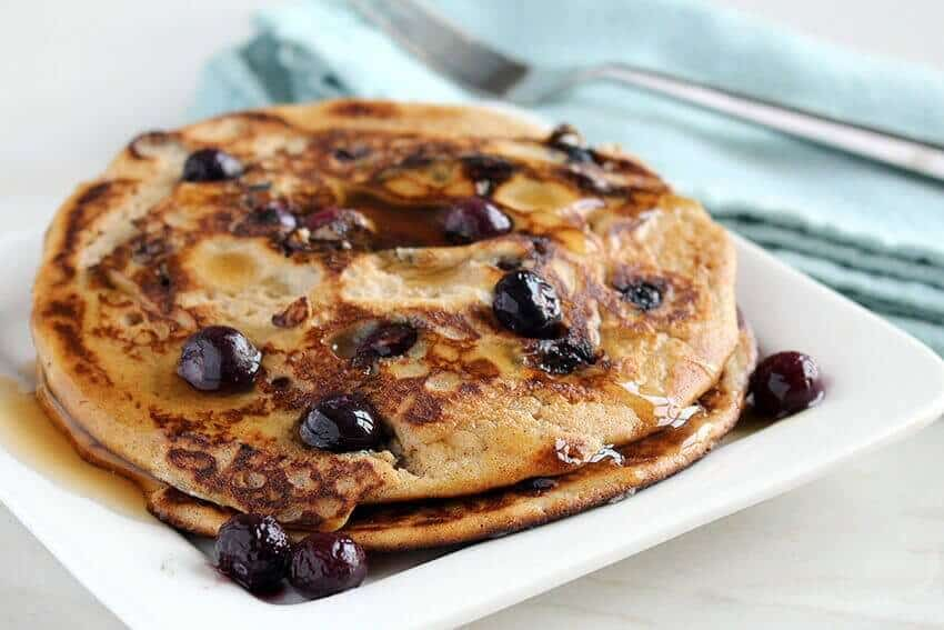 Low carb blueberry pancake