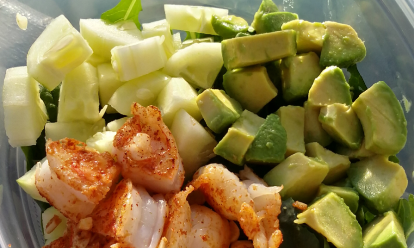 Spicy Shrimp and Avocado Salald