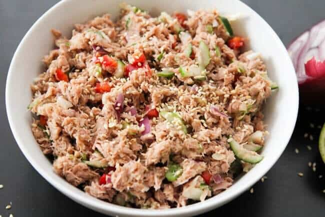Thai Tuna Keto Work Salad