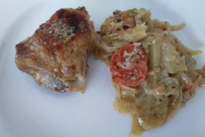 One Dish Chicken and Cabbage Dinner [Easy Keto]