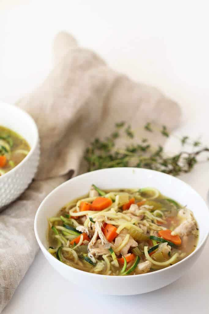 Chicken Zucchini Noodle Soup