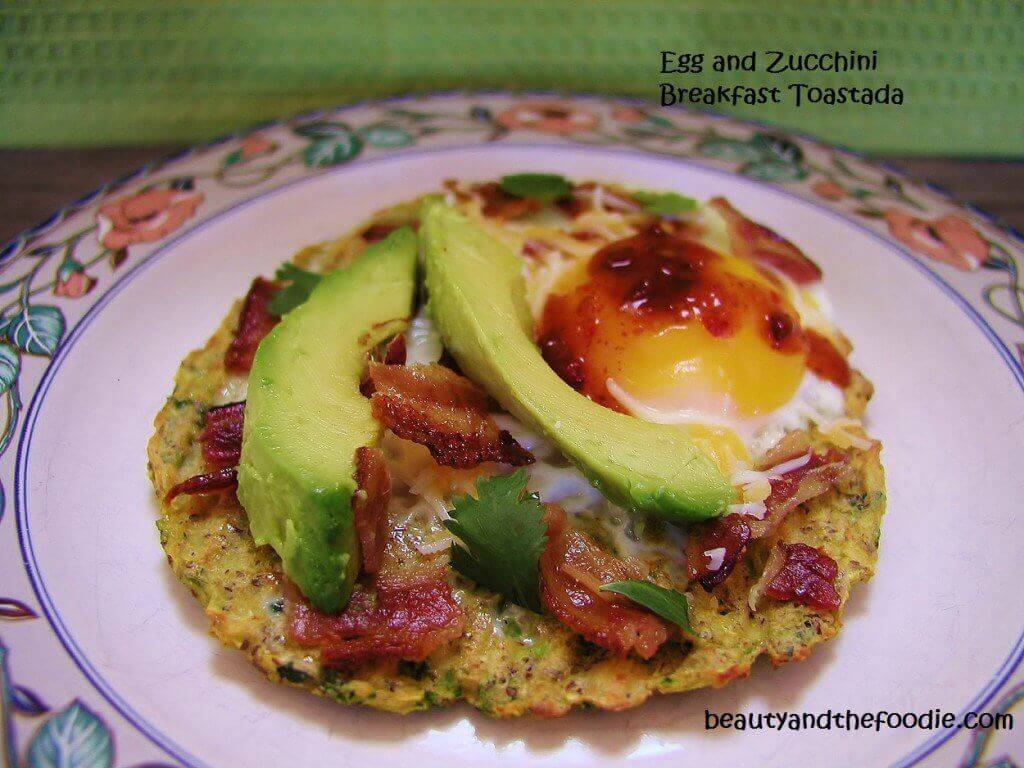 Egg and Zucchini Breakfast Tostada