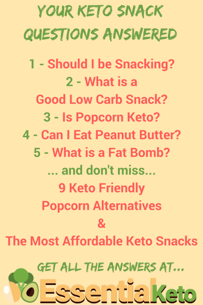 Keto Snacks Questions