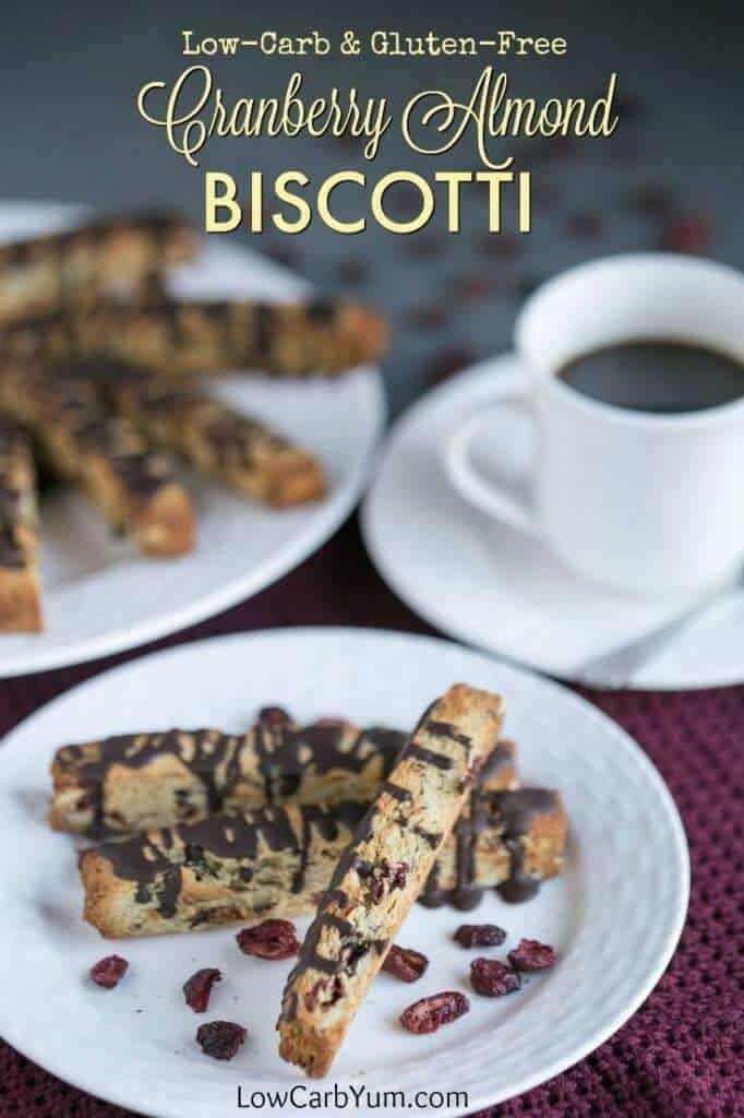 Cranberry Almond Biscotti with Chocolate