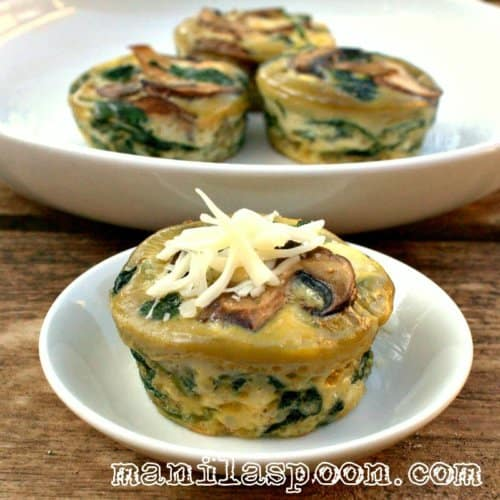 Spinach Quiche Cup