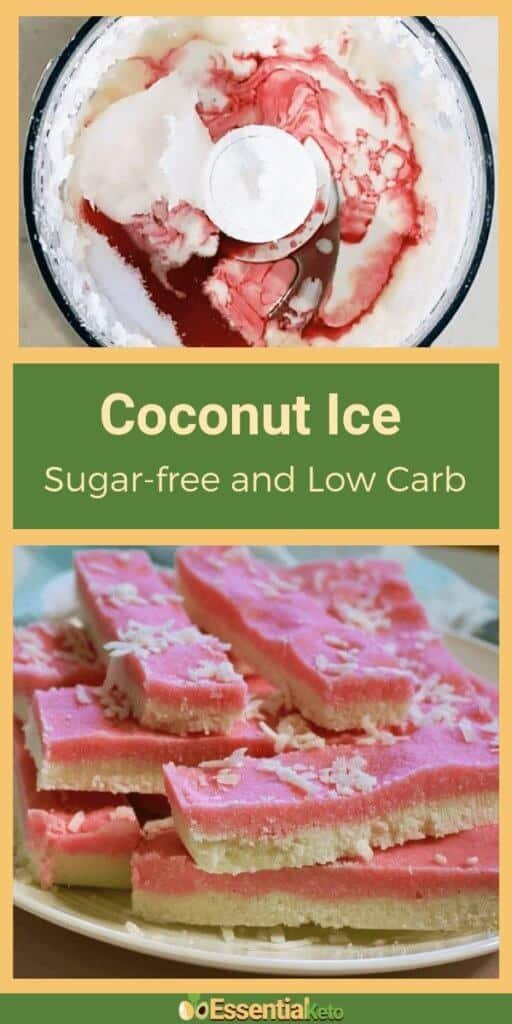 Coconut Ice - sugar free and low carb