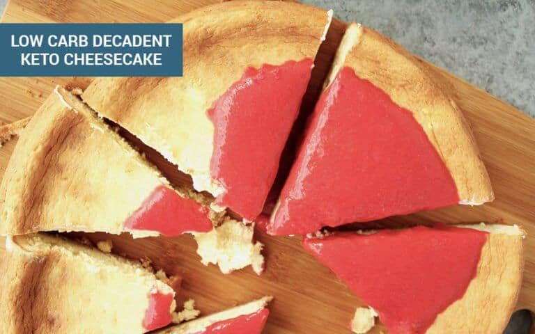 Low Carb Decadent Cheesecake