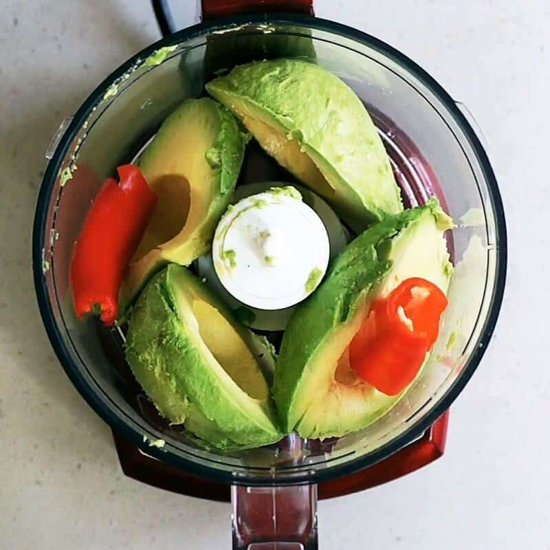 Start with the avocado pesto