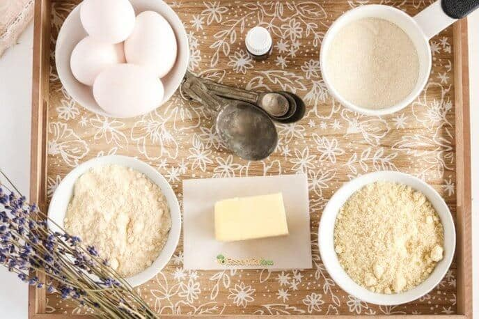 Ingredients for Vanilla Lavender Cupcakes