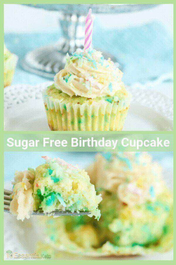 Beautiful and delicious keto vanilla confetti birthday cupcakes your little girl and her friends will love…