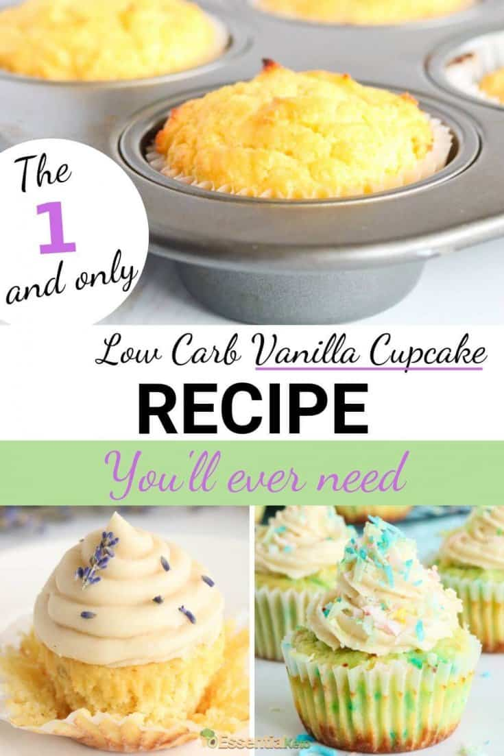 Elegant and feminine low carb lavender vanilla cupcake for mom...
