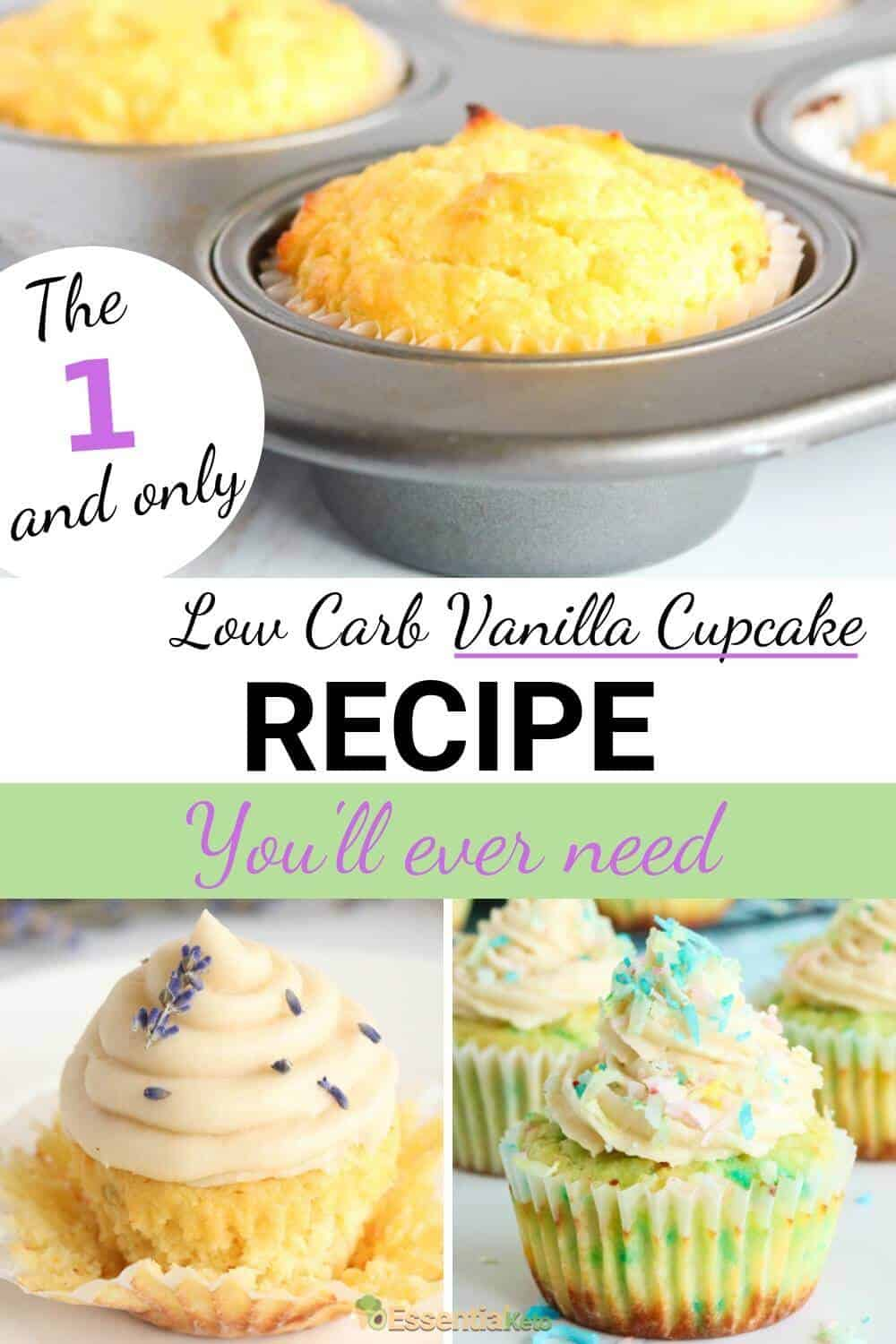 The Best Low Carb Vanilla Cupcake Recipe