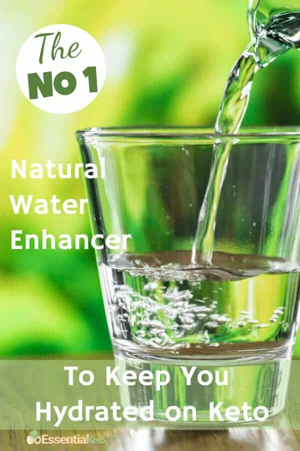 The number 1 Natural Flavor Enhancer for water to keep you hydrated on keto