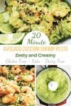 Avocado Zucchini Shrimp Pasta with Pesto