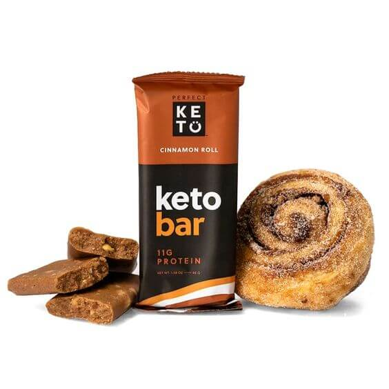 Cinnamon Roll Keto Bar