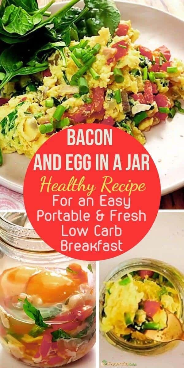 Easy and Fresh Low Carb Egg Breakfast in a Jar