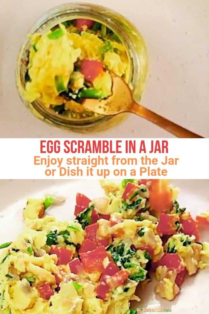 Egg Scramble - Straight from the Jar and Plated
