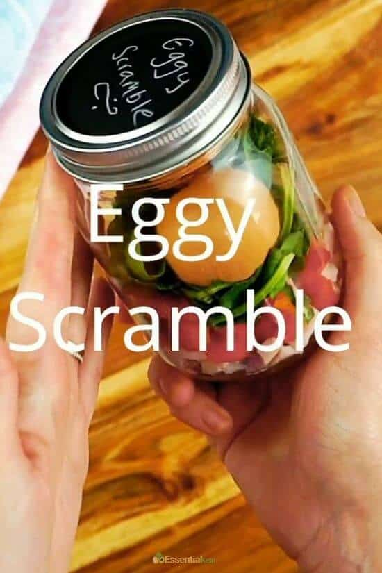 Eggy Scramble Ingredients in a Jar