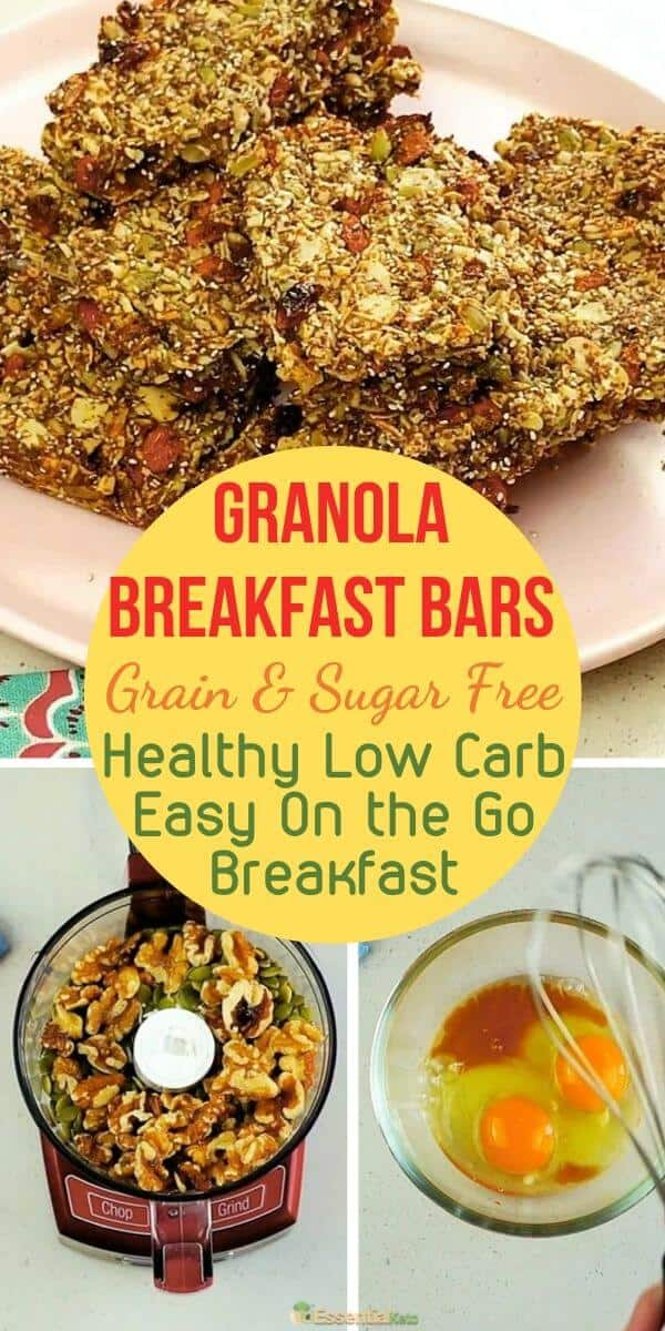 Grain and Sugar free Granola Breakfast Bars