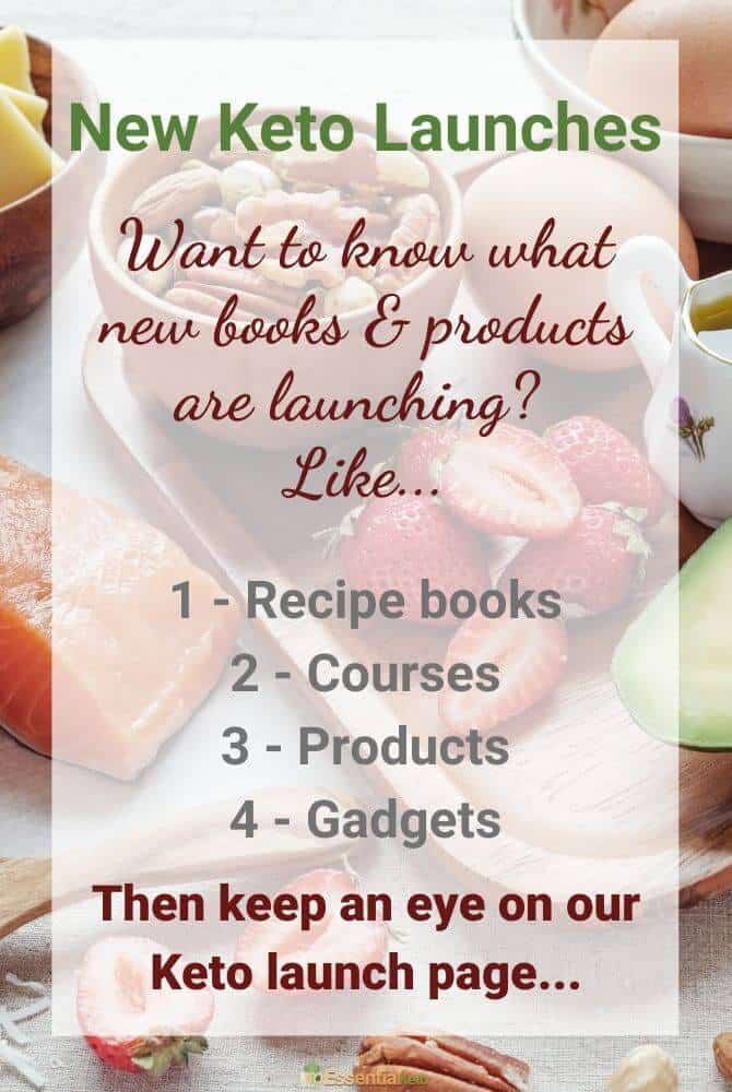Information about new keto product and book launches