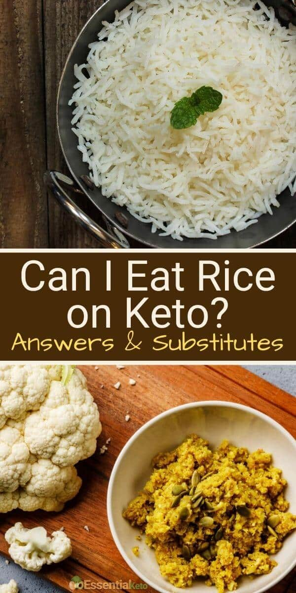 Can I eat rice on keto plus substitutes